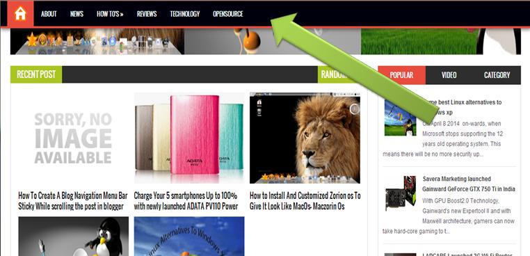 Modern Website Navigation Examples
