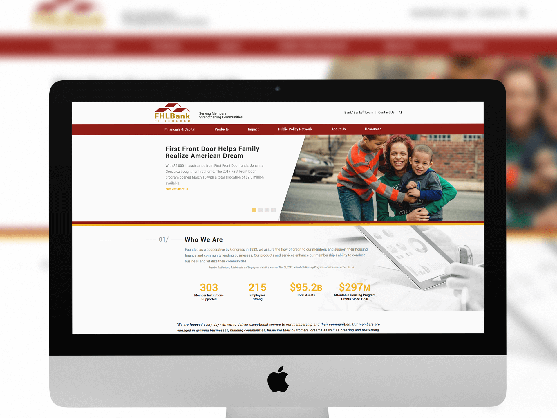 website redesign pittsburgh bank