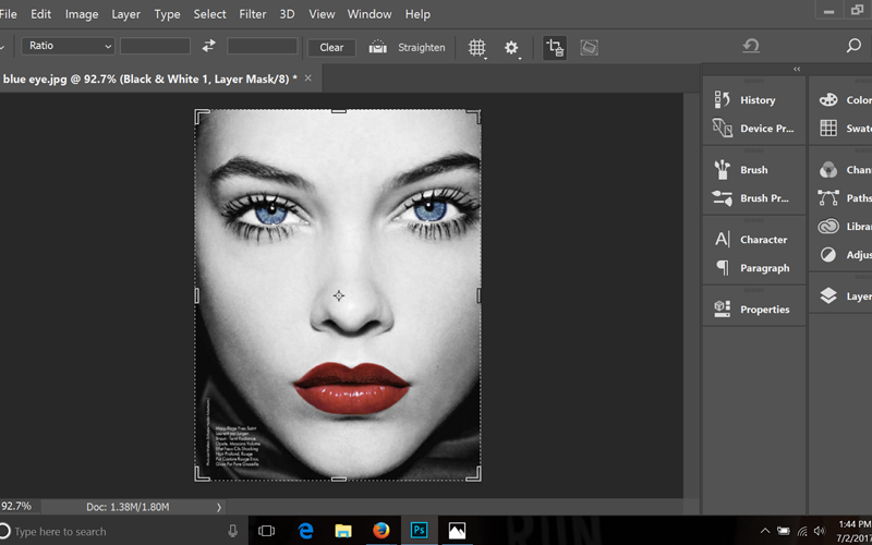 Photoshop tutorial how to add color to the key parts of a black and white image