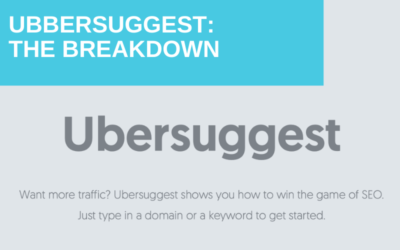 Free SEO Keyword Tool Spotlight: Ubbersuggest