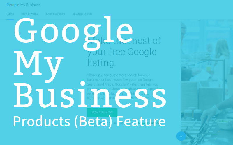 Google My Business Products Listing