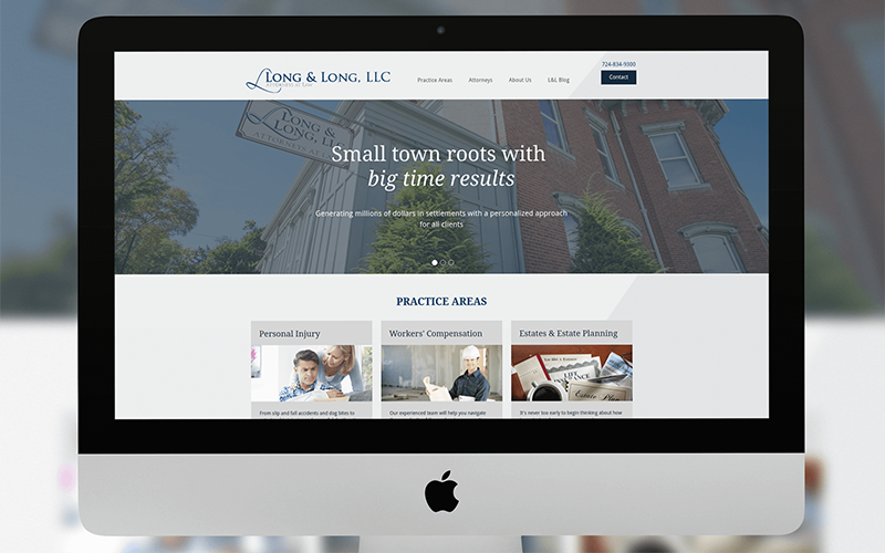 local law firm web design launch