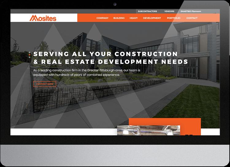 Construction Management Website Case Study Mosites