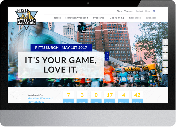 Pittsburgh Marathon Website Desktop