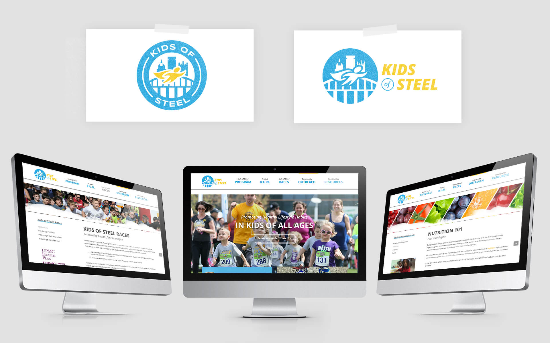 Kids of Steel website responsive layouts